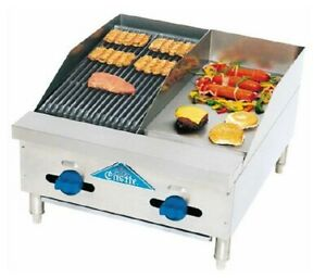 Comstock castle Fhp24 12 1lb Griddle Charbroiler Gas Countertop