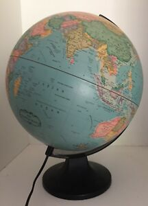 Vintage 1990 S World Globe And Lamp In Exc Working Condition