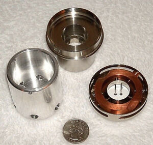 Lot Of 3 New Cathode Head Parts For Amray Scanning Electron Microscope See Phtos