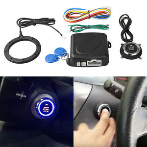12v Push Button Car Engine Start Stop System Kit For Auto Keyless Entry Alarm