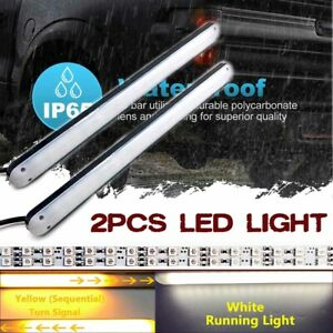 2pcs 72 Led Stop Brake Light Strip Tail Warning Turn Signal Flowing Indicator