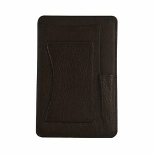 Genuine Leather 4 X 6 Notepad Holder With Pen Holder And Card Slot Brown