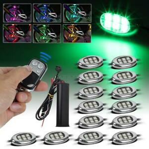 Wireless 14pc Motorcycle Led Lighting Kit Rgb Color 84 5050 smd Led Neon Pod Kit