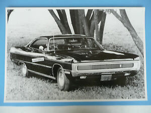 1970 Plymouth Fury 440 Gt 2 Door Hardtop 12 X 18 Black White Picture