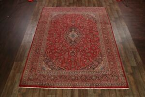 Large Vintage Traditional Floral Red 10x13 Kashmar Persian Oriental Area Rug