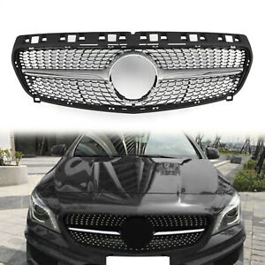 Diamond Star Grille Grill For Mercedes Benz R117 W117 Cla250 2013 2015 Silver Us