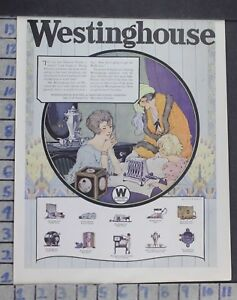 1924 Household Westinghouse Electric Appliance Iron Stovevintage Ad Dm11