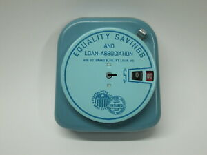 Vtg 1940 s Bankers Utilities Add A Coin Bank Equality Savings St Louis Grand