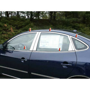10pc Luxury Fx Stainless Window Pkg w o Posts For 2007 10 Hyundai Elantra 4d
