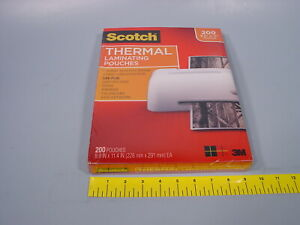 3m Scotch Tp3854 200 Thermal Laminating Pouches 200 Count 8 9 x11 4