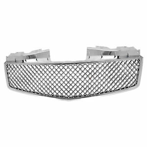 Premium Fx Chrome Bentley Style Mesh Replacement Grille For 2003 07 Cadillac Cts