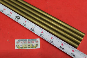 4 Pieces 3 8 C360 Brass Solid Round Rod 30 Long New Lathe Bar Stock 375