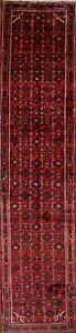 Palace Size Floral Malayer Hamedan Hand Knotted Persian Runner Rug 4x16