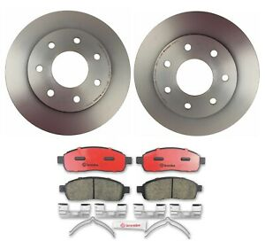 Brembo Front Brake Kit Pads Disc Rotor 7 Lug For Ford Lincoln 4wd Heavy Duty Pkg