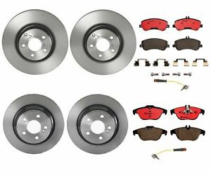 Front And Rear Full Brembo Brake Kit Disc Rotors Ceramic Pads For Mercedes X204