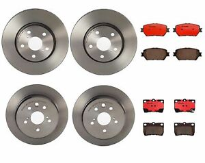 Brembo Front And Rear Brake Kit Disc Rotors Ceramic Pads For Lexus Is250 09 13