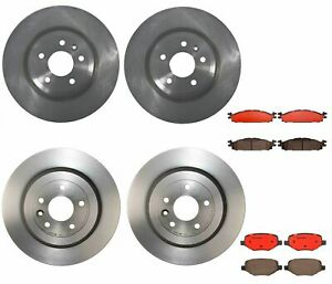 Front Rear Full Brembo Brake Kit Disc Rotors Ceramic Pads For Ford Taurus 2016