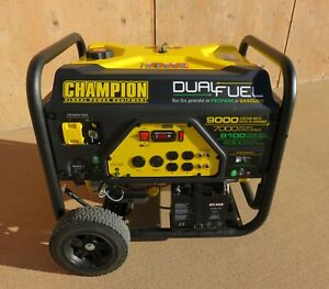 Champion Dual Fuel Generator 9000 7000 Mint Condition