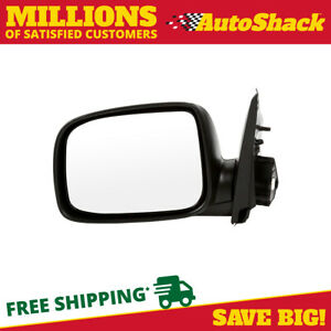 Black Folding Power Driver Left Side Mirror For 04 12 Chevy Colorado