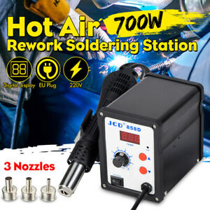 858d 220v 700w Digital Soldering Iron Station Desoldering Hot Air Gun Smd Tool