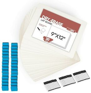Dry Erase Lapboards Whiteboard With Erasers Markers Pack Of 30 9x12 White