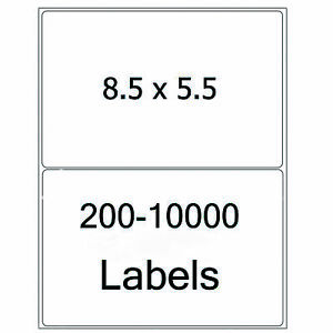 8 5x5 5 Shipping Labels Half Sheet Self Adhesive Round Corner Mailing Labels Usa