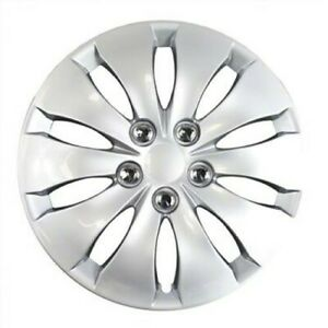 Set Of Four 16 Inch Silver Hubcaps Fits 2008 2012 Honda Accord