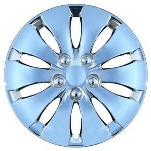 Set Of Four 16 Inch Chrome Hubcaps Fits 2008 2012 Honda Accord