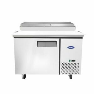 Atosa Usa Mpf8201gr 44 One Section Refrigerated Pizza Prep Table 9 7 Cu Ft