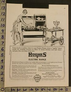1919 Architecture Kitchen Hughes Electric Range Cook Stove Oven Baker Ad So46