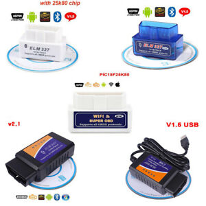 Wifi Bluetooth Elm327 V2 1 V1 5 Obd2 Code Reader Usb Auto Diagnostic Scan Tool