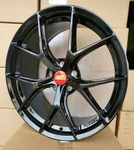 4pcs Bbs F1 r 19inch 8 5 9 5j 5x114 3 5x112 Cheap Wheel Alloy Car Rim Blk Yh97 2