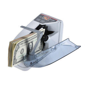Battery Powered ac Bill Cash Banknote Counter Money Currency Counting Machine Us