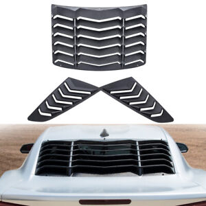 Black Rear And Side Window Louvers Sun Shade Cover For Chevy Camaro 2010 2015