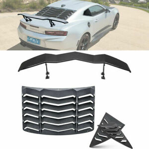Rear Side Window Louver Sunshade Cover Wing Spoiler For Chevy Camaro 2010 2015