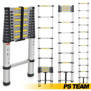 12 5ft Aluminum Telescopic Ladder Extendable Tool Retractable Sturdy Durable Hd