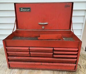 Vintage Snap On Top Box Kra 58b 9 Drawer Toolbox 1970 S South Jersey Philly P U