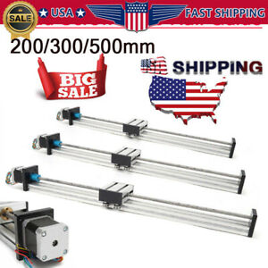 300 500mm Cnc Linear Actuator Stage Lead Screw Slide Rail Guide 42 Stepper Motor