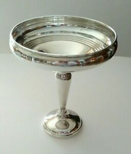 Sterling Silver Footed Compote Candy Nut Bowl 266 Grams Weighted
