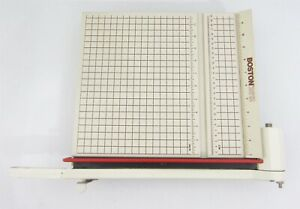 Boston 2612 Paper Cutter 12 Trimmer Heavy Duty Guillotine Wood Base