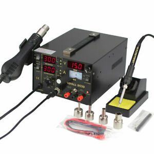 3 In 1 Soldering Station 853d 700w Hot Air Iron Gun Power Smd Dc Rework Welder