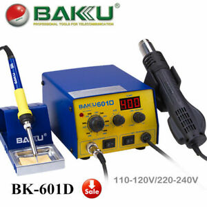 700w Soldering Iron Station Baku Bk 601d 110v Smd Heat Gun With Stand Brushless