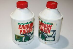 Nos 2 Bottles Of Turtle Wax Chrome Polish And Rust Remover