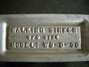 WALKING SINKER DO-IT-MOLD 8 38 OZ CAVITIES for Lindy rig & other live bait rigs