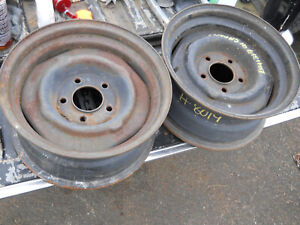 15 X7 Gm Chevy Oem Steel Wheel 5x4 75 Pair Hot Rat Rod Scta Camaro Chevelle