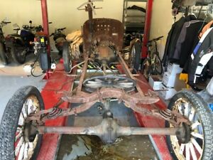 Ford Model T Complete Chassis Wood Wheel And Motor And Transmission Speedster