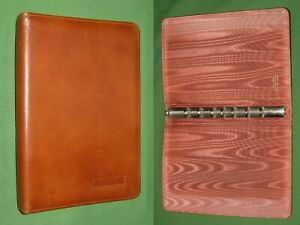 Desk 0 75 Brown Leather Day Timer Planner Open Binder Classic Franklin Covey