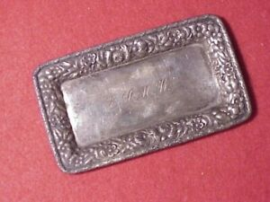 Sterling Silver Miniature Tray Use Dollhouse