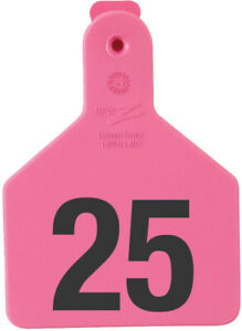 Z Tags Calf Ear Tags Pink Numbered 1 25