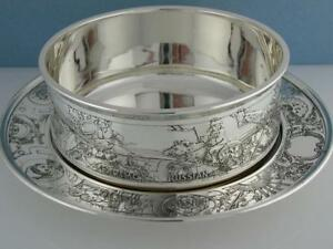Sterling Kerr Child S Bowl Underplate American Russian African Indian Chinese